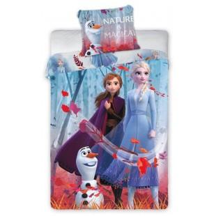 Modro-fialová bavlnená posteľná obliečka pre deti Frozen