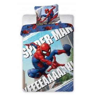 Modro-červená bavlnená posteľná obliečka pre deti s motívom Spider-Man