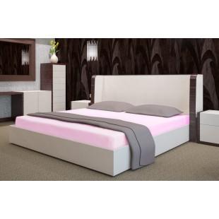 Ružové froté posteľné prestieradlo s gumičkou
