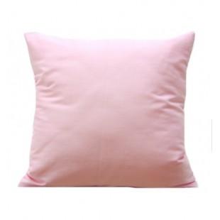 Obliečka na vankúš zo saténovej bavlny v ružovej farbe