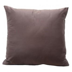Jednofarebná hnedo kakaová obliečka na vankúš zo saténovej bavlny