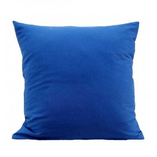 Modrá dekoračná jednofarebná obliečka na vankúš