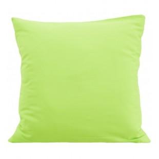 Obliečka na vankúš zo saténovej bavlny v jabĺčkovej farbe
