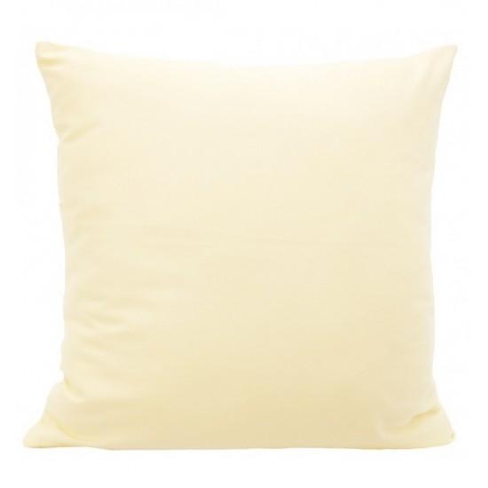 Svetlo krémová obliečka na vankúš zo saténovej bavlny