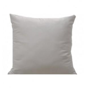 Svetlo sivá obliečka na vankúš zo saténovej bavlny