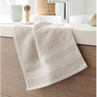 Svetlobežový bavlnený kúpeľňový ručník