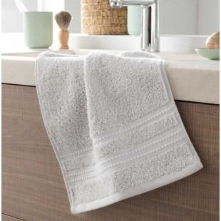 Svetlosivý bavlnený kúpeľňový ručník