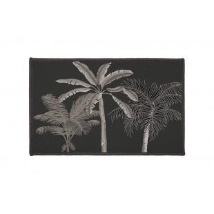 Čierny dekoračný koberček s palmami