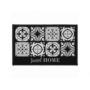 Čierny dekoračný koberček sweet home