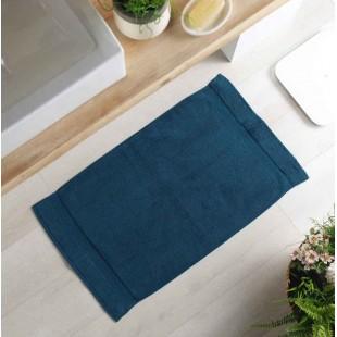 Tmavomodrý bavlnený kúpeľňový koberček