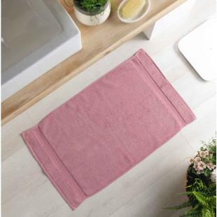 Ružový bavlnený kúpeľňový koberček