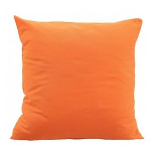 Oranžová obliečka na vankúš zo saténovej bavlny