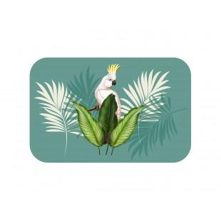 Zelené prestieranie na stôl s exotickým motívom