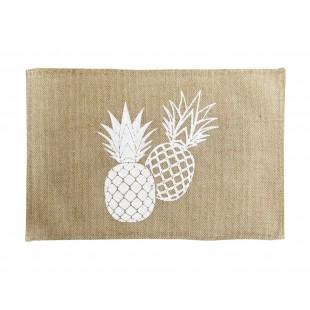 Jutové prestieranie na stôl s motívom ananásov