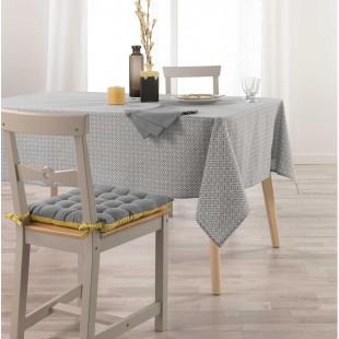 Sivý obrus na stôl so vzorom