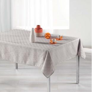 Krémový vzorovaný obrus na stôl