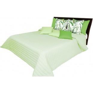 Pistáciový prehoz na posteľ s prešívaním