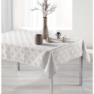 Elegantný krémový vzorovaný oburs na stôl