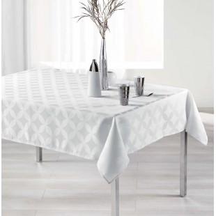 Elegantný biely vzorovaný oburs na stôl