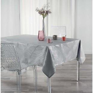 Sivý obrus na stôl so strieborným motívom