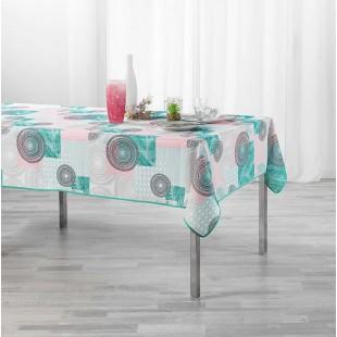 Ružový vzorovaný obrus na stôl