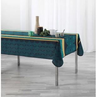 Tmavomodrý obrus na stôl so vzorom