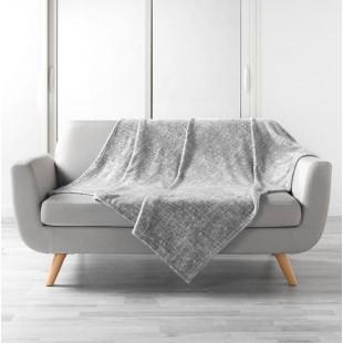 Sivá vzorovaná plyšová deka