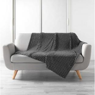 Čierno-biela deka s cik-cak vzorom