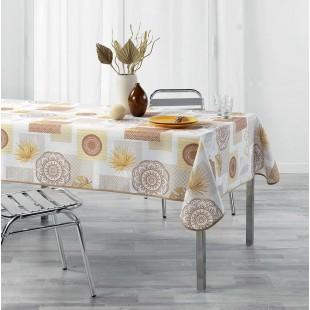 Béžový vzorovaný obrus na stôl