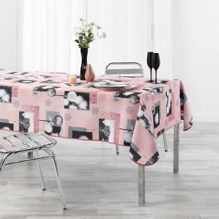 Ružový obrus na stôl s vianočným motívom