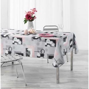 Sivý obrus na stôl s vianočným motívom
