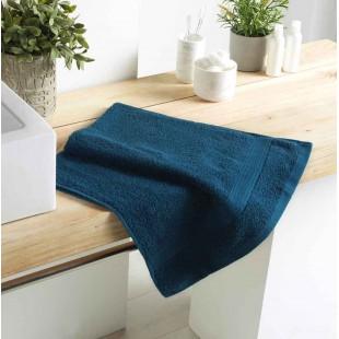 Tmavomodrý bavlnený kúpeľňový ručník
