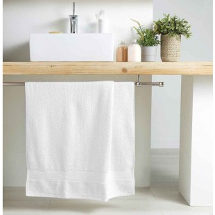 Biely bavlnený kúpeľňový ručník
