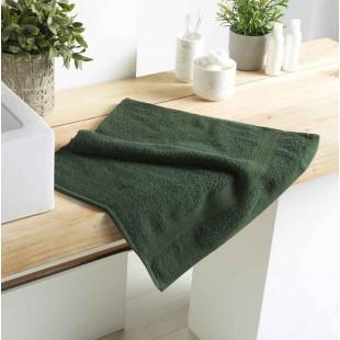 Tmavozelený bavlnený kúpeľňový ručník