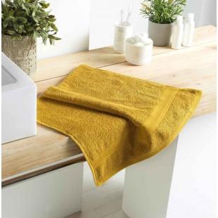 Medový bavlnený kúpeľňový ručník