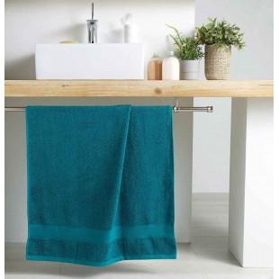 Petrolejový bavlnený kúpeľňový ručník