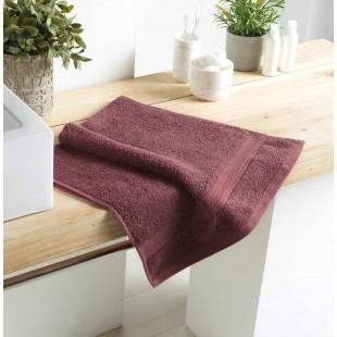 Fialový bavlnený kúpeľňový ručník