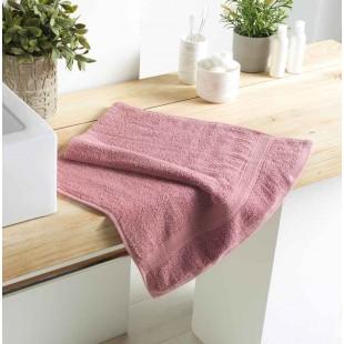 Ružový bavlnený kúpeľňový ručník