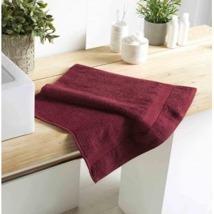 Bordový bavlnený kúpeľňový ručník