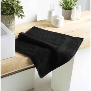 Čierny bavlnený kúpeľňový ručník