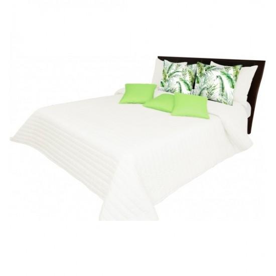 Prešívaný pruhovaný prehoz na posteľ pieskovej farby