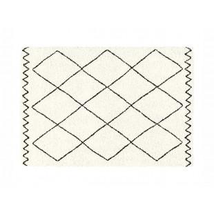 Krémový dekoračný koberček s geometrickým motívom