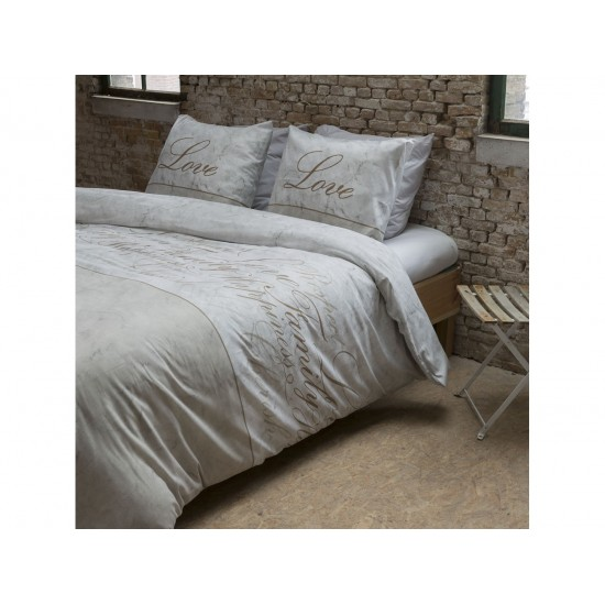 Béžové posteľné obliečky HAPPINES