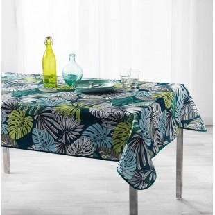 Zelený obrus na stôl s farebnými lístkami
