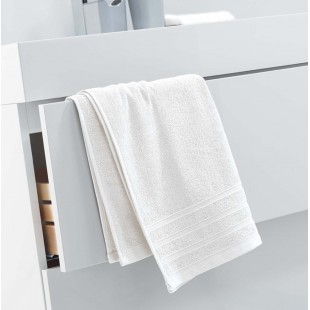 Krémový jednofarebný kúpeľňový ručník
