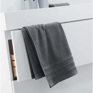 Tmavosivý jednofarebný kúpeľňový ručník