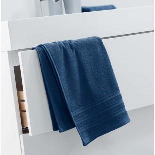 Tmavomodrý jednofarebný kúpeľňový ručník