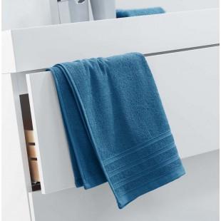 Petrolejovo-modrý jednofarebný kúpeľňový ručník