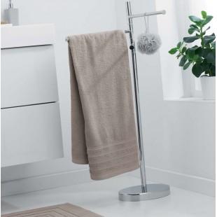 Béžový jednofarebný kúpeľňový ručník