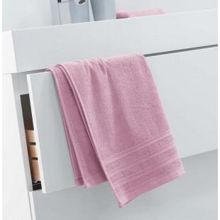 Ružový jednofarebný kúpeľňový ručník